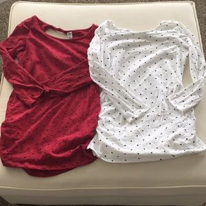Pair of old navy maternity tops